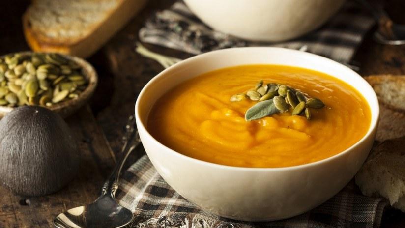 Le plaisir de manger un potage en hiver....